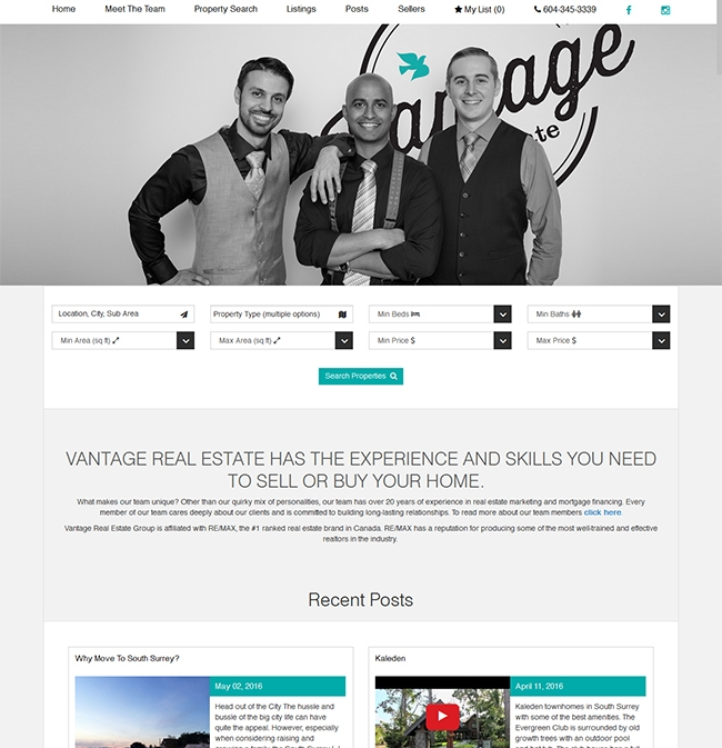 real estate website design development vancouver