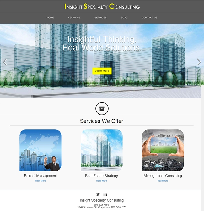 Project Managment Website Design Coquitlam